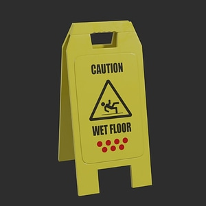 Wet Floor Sign 3D-modell