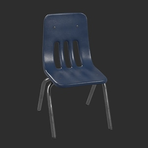 School Chair 3D-modell