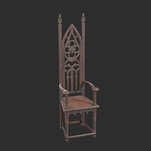 Modello 3D di Wooden Chair