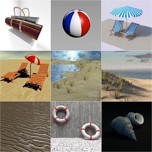 Beach Pack 3D Model