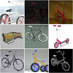 Set of Bicycles 3D Model