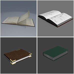 Books 3D модель