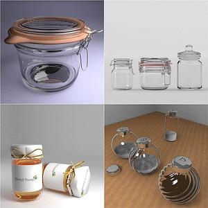 Set of Jars 3D Model