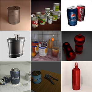 Tin Cans 3D Model