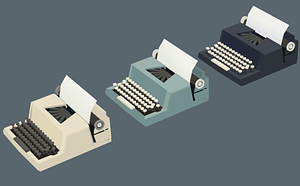 Typewriters 3D Model
