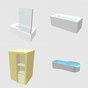 Bath and Sauna 3D Model