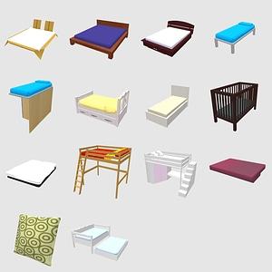 Modelo 3D de Conjunto de camas