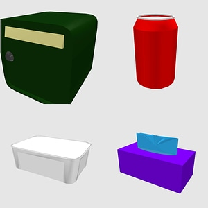 Set of Boxes 3D 모델