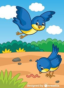 Bluebirds vector