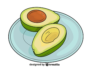 Avocado on the Plate vector