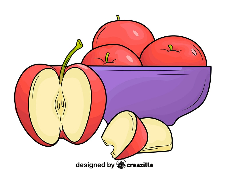 A Plate of Apples vector