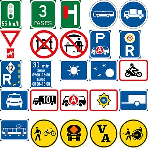 400 Road Signs in Southern African Development vector