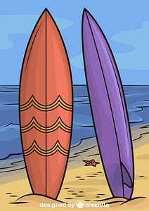 Two Surfboards vector