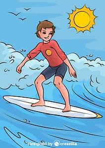Surfer Boy vector
