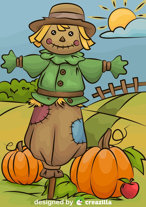 Scarecrow Pumpkin Patch vector