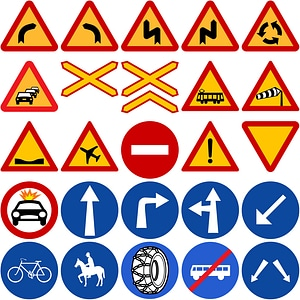 Road Signs in Greece vector