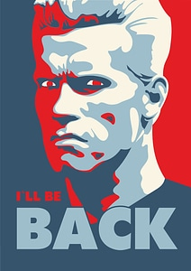 I will be back from Terminator Movie by Arnold Schwarzenegger vector