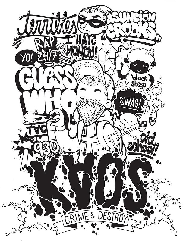 Graffiti T-shirt ontwerp vector