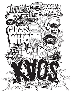 Graffiti T-shirt ontwerp vector