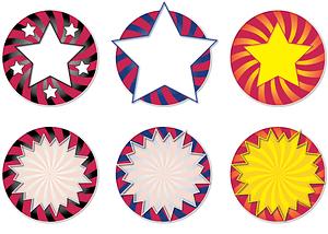 Seal Star Stickers Coaster vector