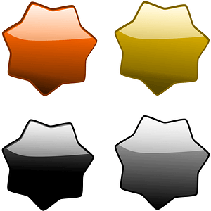 Glossy Hexagons Coasters vector