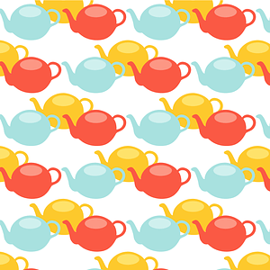 Teapot Seamless Pattern vector