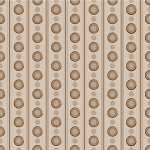 Brown Seamless Pattern with Circles vector