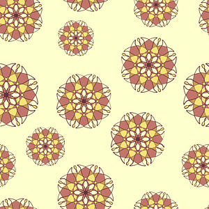 Creamy Seamless Pattern with Abstract Flowers vector
