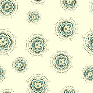 Kaleidoscope Circles Seamless Pattern vector