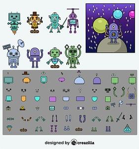 Robot constructor vector