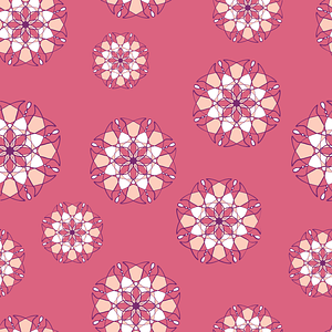 Kaleidoscope Flowers Seamless Pattern vector