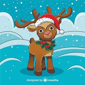 Christmas Reindeer vector