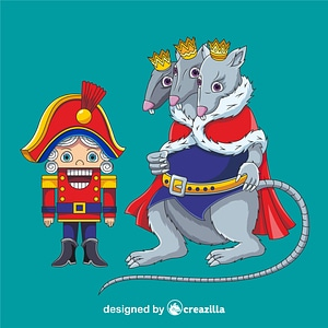 Nutcracker and King Rat vector