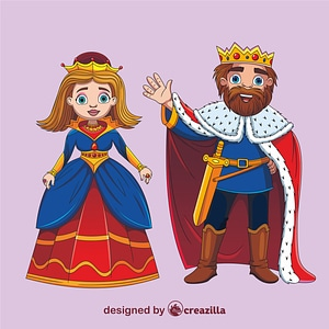 Queen and King vector