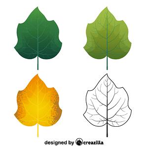 Foxglove tree leaves ベクターイメージ狐