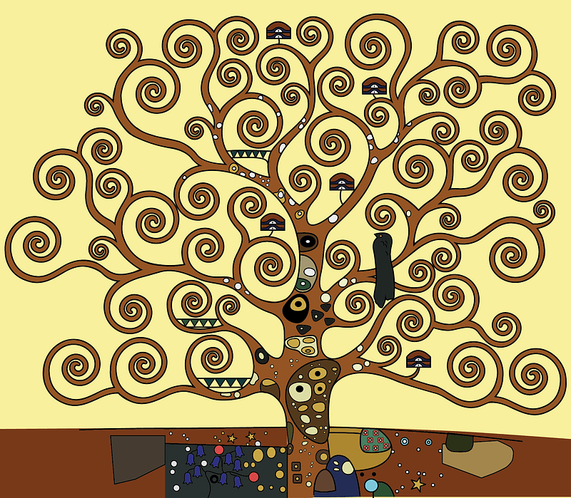 Tree of Life by Gustav Klimt vector