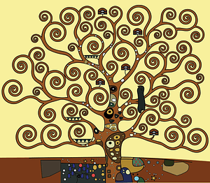 Tree of Life by Gustav Klimt vector