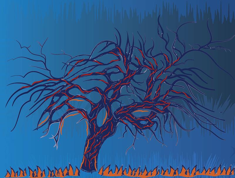 Avond Evening (The Red Tree) by Piet Mondriaan vector