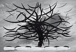 灰樹,1911年,彼得·蒙德里安(Piet Mondrian) vector