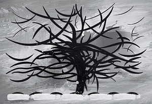 The Gray Tree, 1911 by Piet Mondrian vector