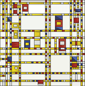 Broadway Boogie-Woogie, 1942 by Piet Mondriaan vector