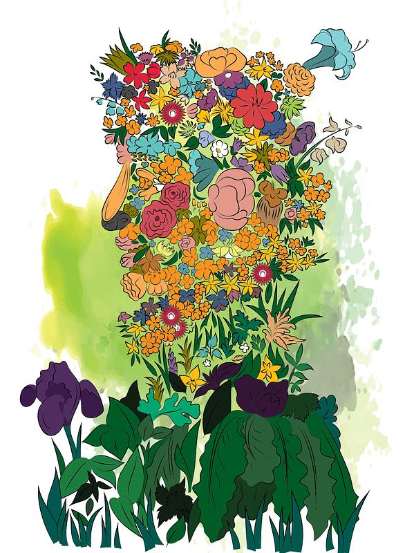 Spring by Giuseppe Arcimboldo vector