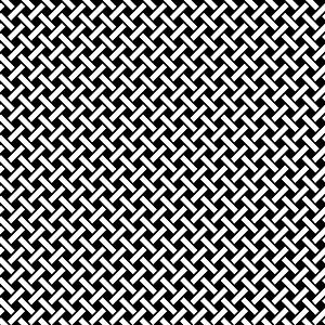 Black and White Basket Weave Seaamless Pattern vector