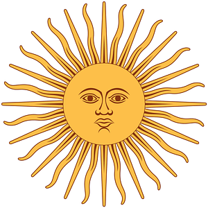The Sun of May vector