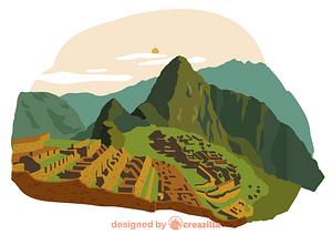 Machu Picchu vector