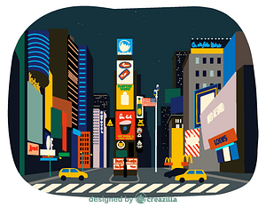 Times Square vector