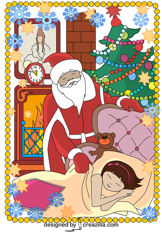 Santa Claus Comes Tonight Card vector