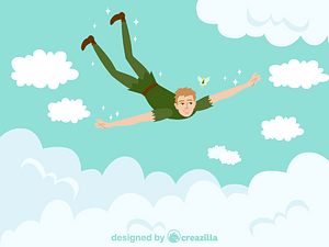 Flying Peter Pan vector