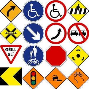 Road Signs of Ireland vector