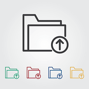 Upload Icons vector